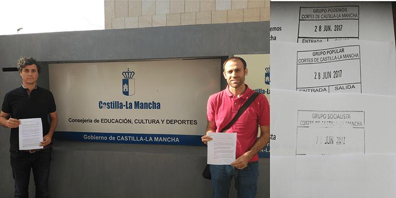 Decenas de padres de Guadalajara reclaman en Toledo una solución al problema de escolarización de sus hijos