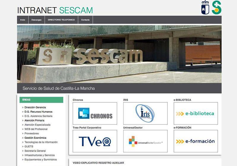 El Servicio de Salud de Castilla-La Mancha renueva su intranet con una imagen más moderna y nuevos contenidos