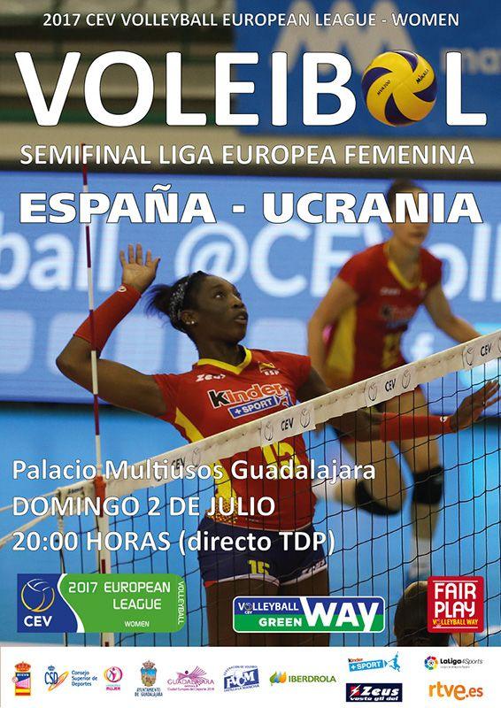 España – Ucrania, 'semis' de Liga Europea Femenina de Voley en Guadalajara