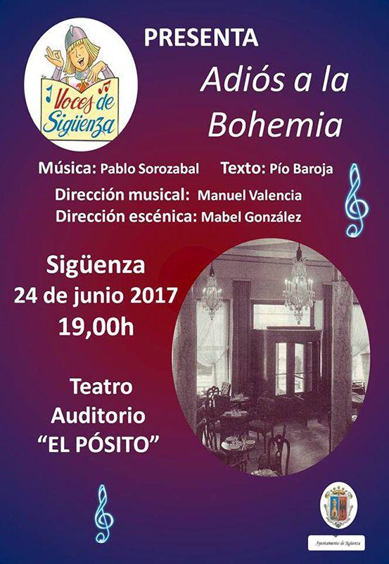 Este sábado, el Coro Voces de Sigüenza interpretará la zarzuela 'Adiós a la Bohemia'