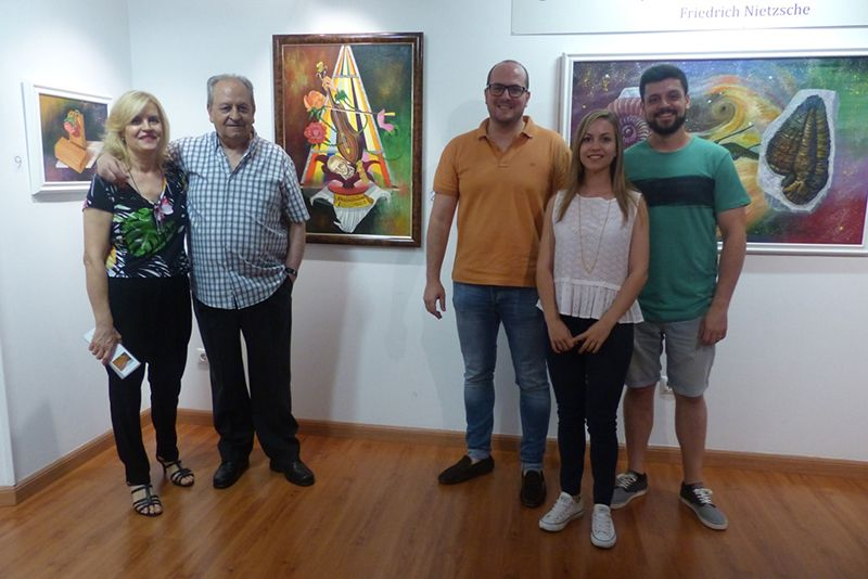Inaugurada la exposición de pintura de Cassado en la Sala Multiusos de la Diputación de Guadalajara