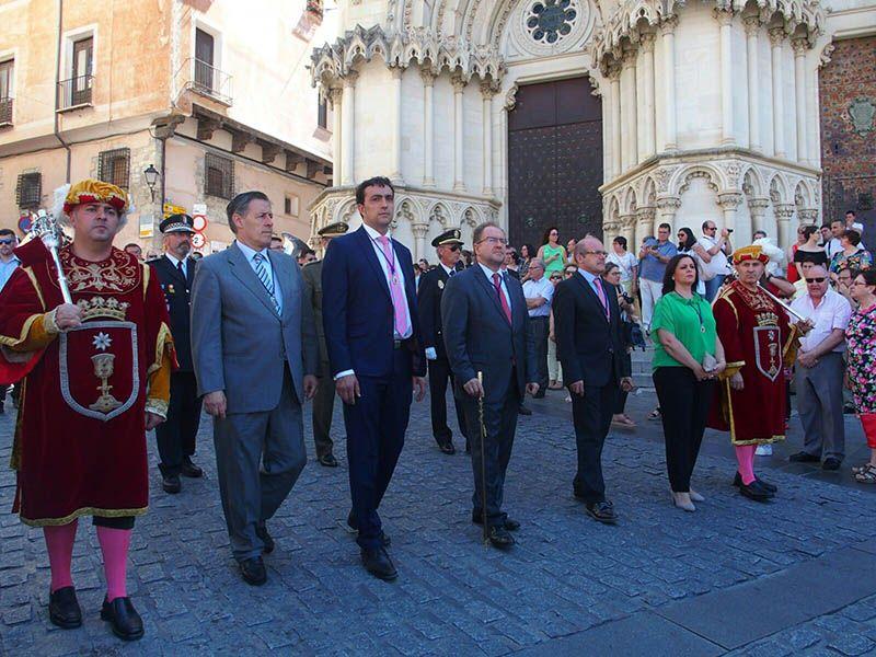 La Corporación Municipal de Cuenca asiste a la Procesión del Corpus