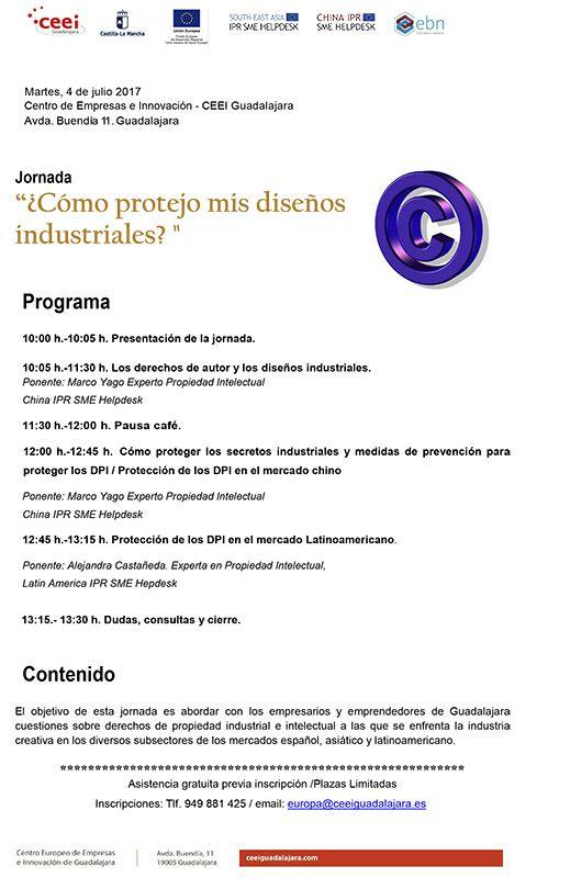 La protección de los diseños industriales, a examen en el CEEI de Guadadalajara