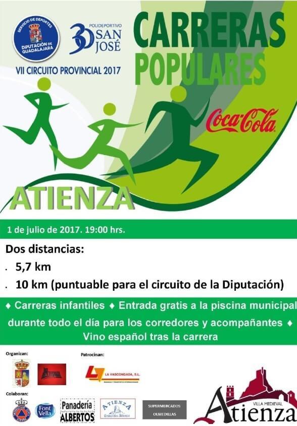 Mañana se celebra la V Carrera Popular de Villa de Atienza, sexta prueba del Circuito Diputación de Guadalajara