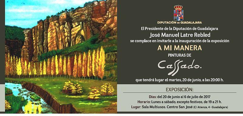 Mañana se inaugura en la Sala Multiusos del San José la exposición A mi manera de Cassado