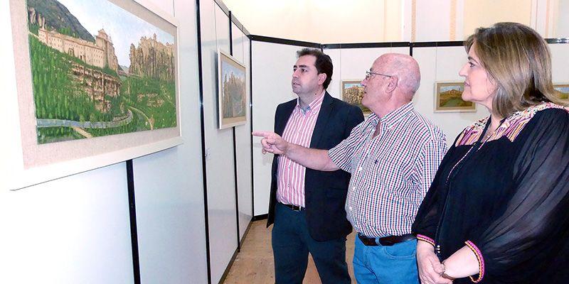 Pirograbado y pintura se fusionan en la obra de José Atienza expuesta en la Diputación de Cuenca