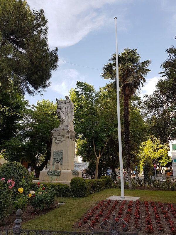 Todo listo para que Cuenca rinda homenaje a la Bandera de España en la Plaza de la Hispanidad