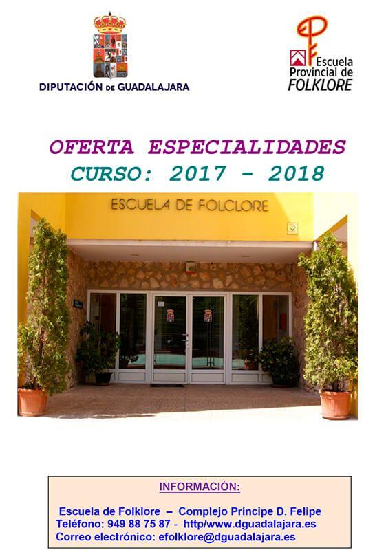 El lunes se abre la reserva de plaza para el próximo curso en la Escuela de Folklore de la Diputación de Guadalajara