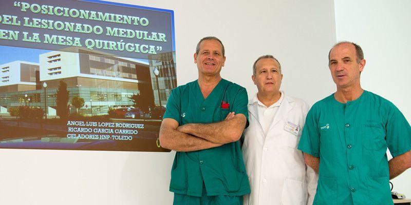 Dos celadores del Hospital Nacional de Parapléjicos, premiados por una idea que mejora la posición del lesionado medular en la mesa quirúrgica