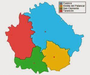 Cuenca en 1966 es dividida en 4 provincias