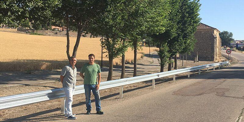 El director provincial de Fomento visita varias obras de mantenimiento ejecutadas por la Junta en carreteras de Guadalajara