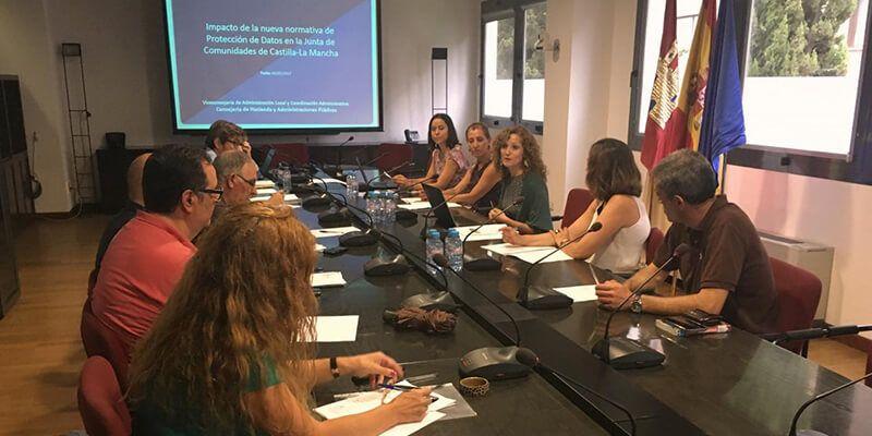 La Junta impulsa la coordinación en protección de datos de todos los órganos gestores de la Administración regional