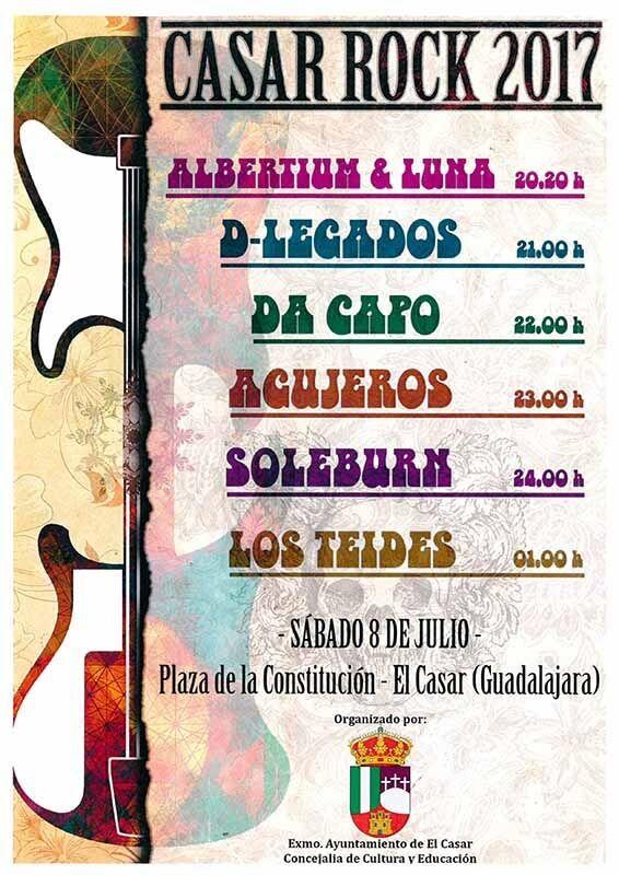 La música rock sonará en la noche del sábado en El Casar en un concierto protagonizado por grupos locales