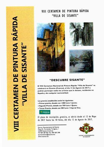 """Sisante celebra su VIII Certamen de Pintura Rápida """"Villa de Sisante"""", con el que colabora la Fundación Globalcaja Cuenca"""