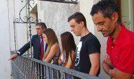 Mariscal reconoce la labor de los jóvenes deportistas Alicia Robles, Alba Matas y Carlos Vedriel