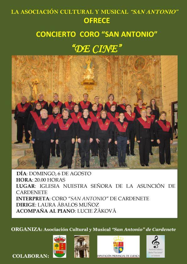 CARTEL CONCIERTO CORO DE CINE 06 08 17 fondo verde