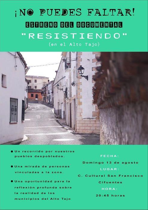 Este fin de semana se proyectará el documental Resistiendo en Cifuentes y Villanueva de Alcorón