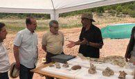 Felpeto visita el yacimiento del Créatico Superior en Sacedón