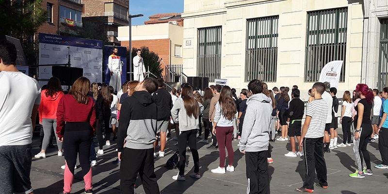 Alumnado de Educación Secundaria de Guadalajara participa en los actos programados dentro de la Semana Europea del Deporte