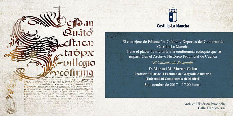 El Archivo Histórico de Cuenca retoma el ciclo de conferencias con la titulada 'El Catastro de Ensenada'
