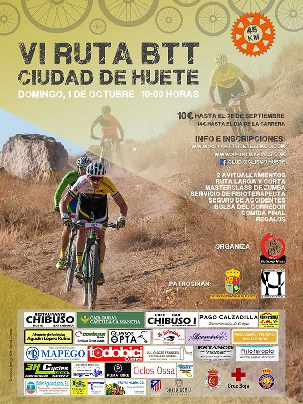 El Club Ciclismo Huete organiza la VI Ruta BTT Ciudad de Huete,