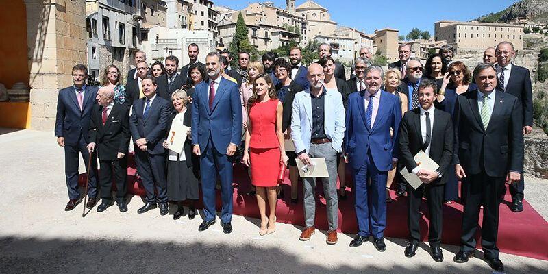 Los Reyes de España entregan en Cuenca los Premios Nacionales de Cultura 2016