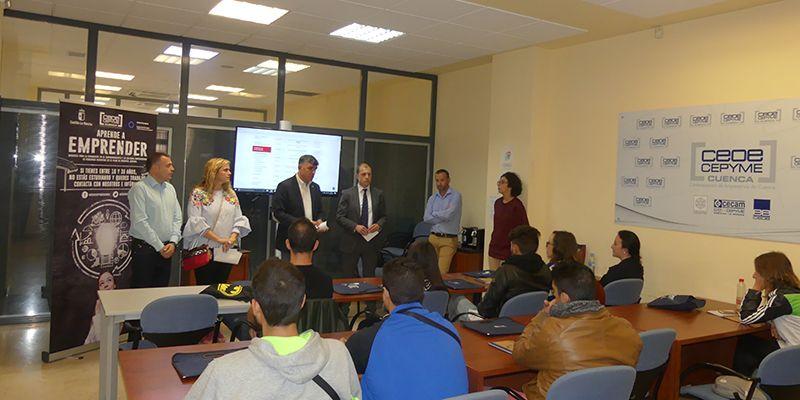 Aprende a Emprender Ya forma a 15 alumnos en la sede de CEOE-Cepyme Cuenca