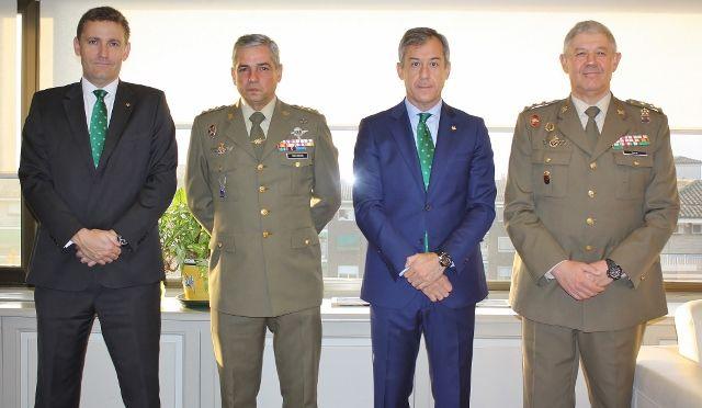 Caja Rural CLM recibe la visita del nuevo Delegado de Defensa en CLM