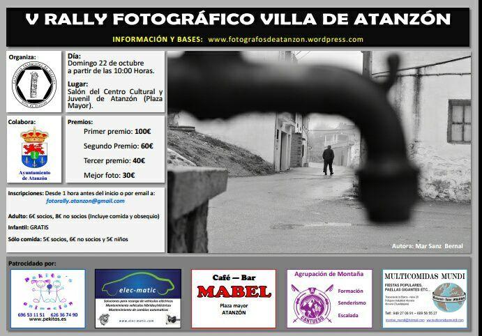 El domingo 22 de octubre tendrá lugar el V Rally Fotográfico Villa de Atanzón