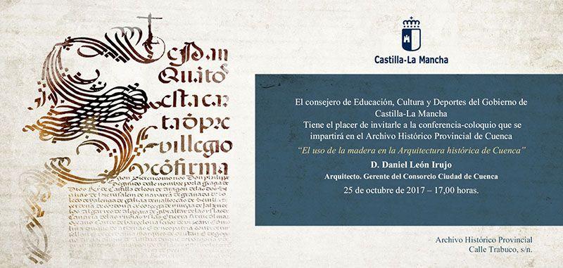 El uso de la madera en la Arquitectura Histórica de Cuenca llega a las conferencias del Archivo Histórico