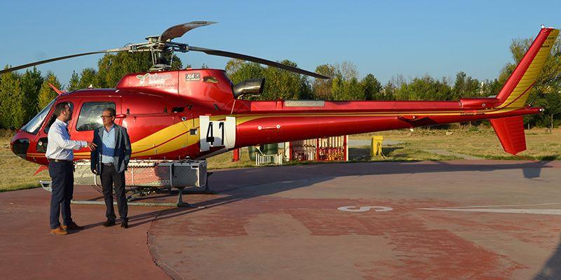 La Junta ejecuta obras de mejora en el helipuerto y accesos del Centro de Operaciones Provincial de El Serranillo