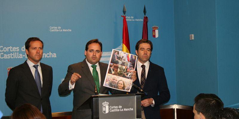 """Los portavoces del GPP denuncian que García Molina se va a Cataluña a dar """"besos y abrazos"""" a los golpistas"""