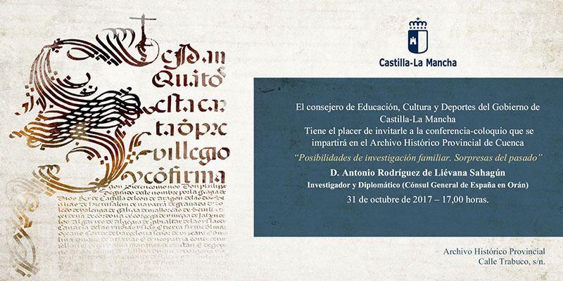 Los retos de adentrarse en una investigación familiar, próxima conferencia en el Archivo Histórico de Cuenca