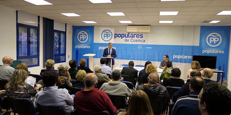 Mariscal presenta a los afiliados los logros conseguidos en sus dos primeros años al frente del Gobierno en el Ayuntamiento de Cuenca