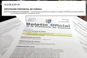 Diputación de Cuenca pone a disposición de los municipios casi 235.000 euros para mobiliario urbano