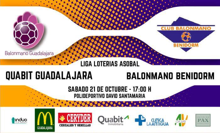 Quabit Guadalajara buscará los 10 puntos este sábado contra el Benidorm