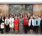 S.M. doña Letizia recibe a la Junta Directiva Nacional de AFAMMER en Zarzuela
