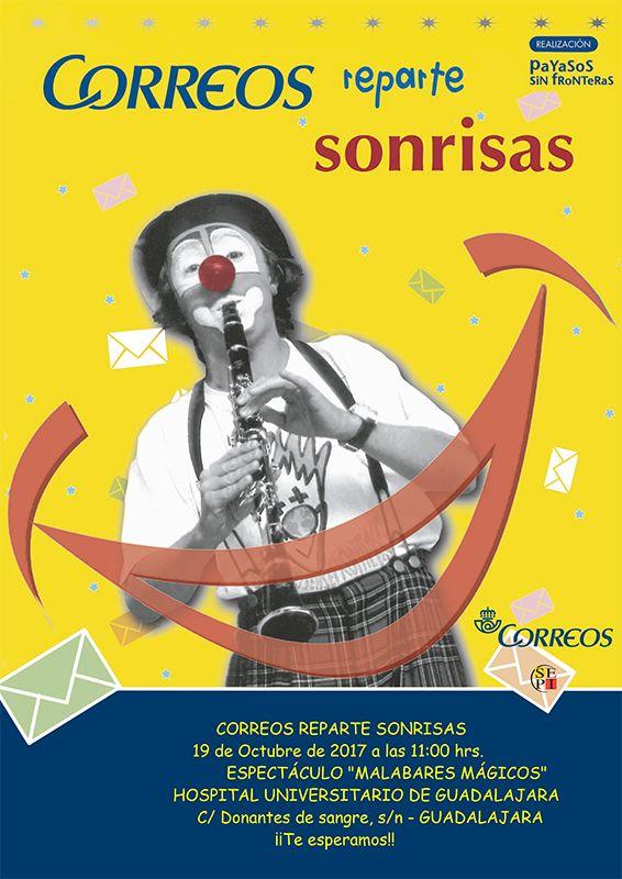 Correos y Payasos sin Fronteras traen este jueves el espectáculo 'Malabares Mágicos' al Hospital de Guadalajara