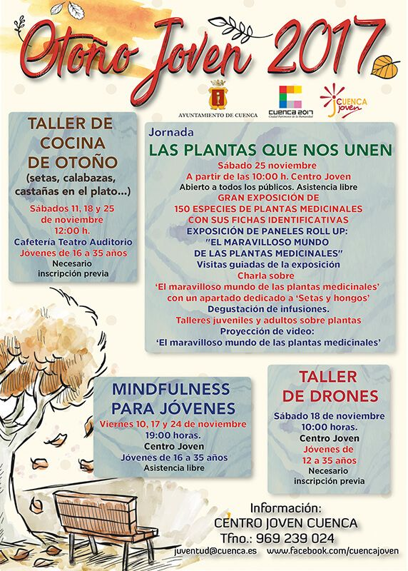 El Centro Joven de la capital ofrece varias actividades gratuitas relacionadas con la temporada otoñal