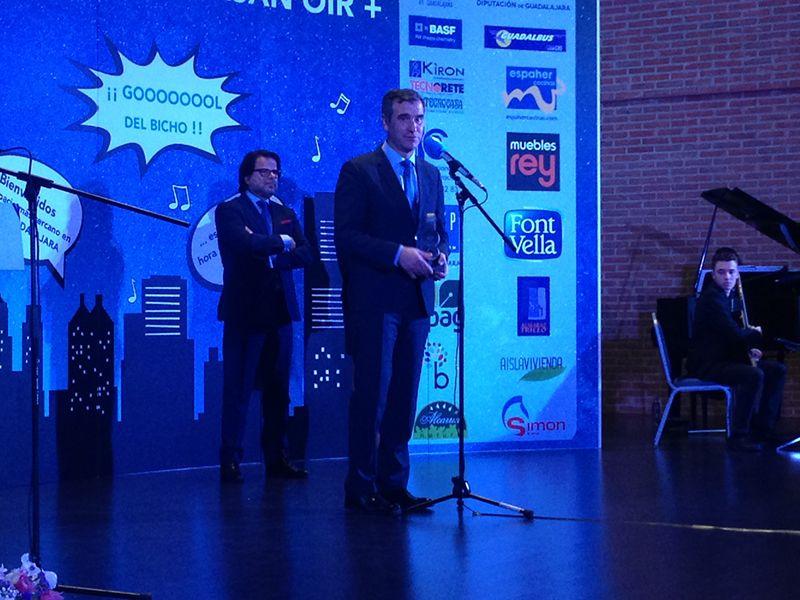 El Ayuntamiento de Guadalajara recibe uno de los premios Cope por su declaración como Ciudad Europea del Deporte 2018