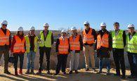 El director general de Agencia del Agua visita las obras de ampliación de la estación depuradora de Mota del Cuervo