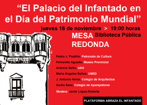 La Plataforma Abraza el Infantado celebrará una charla reflexiva por el Día Internacional del Patrimonio Mundial