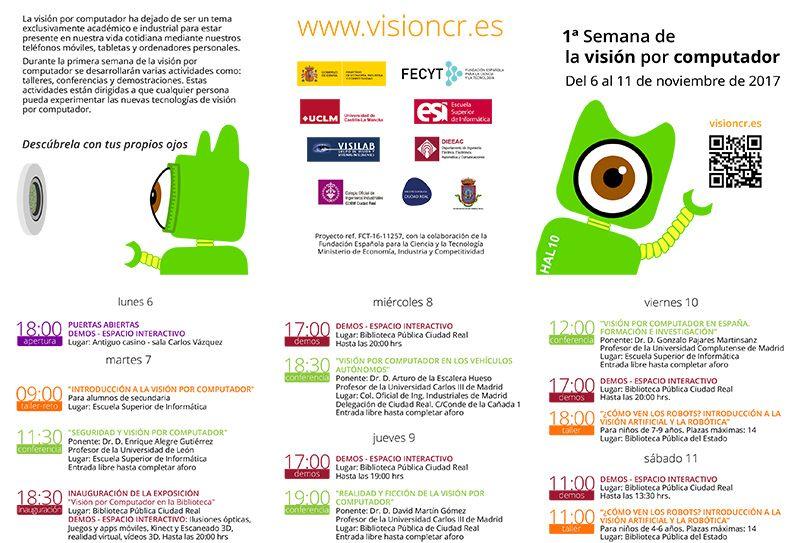 La UCLM celebra en Ciudad Real del 6 al 11 de noviembre la 1ª Semana de la Visión por Computador