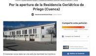 1189 firmas para Aurelia Sánchez Navarro con el objetivo de abrir la residencia de mayores de Priego