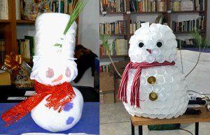 Decoración navideña con objetos reciclados para unir generaciones y crear comunidad en Portalrubio de Guadamejud (2)