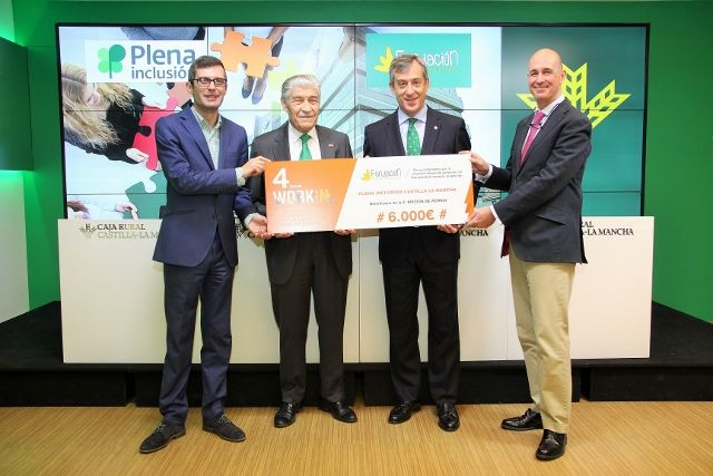 Fundación Caja Rural CLM entrega una ayuda Workin a Plena Inclusión CLM valorada en 6.000 €