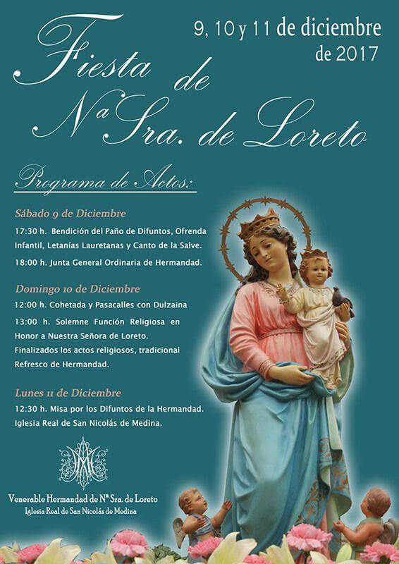 Huete celebrará el lunes la festividad de la Virgen de Loreto