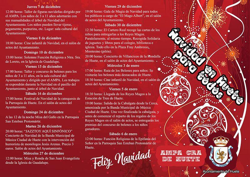 Huete programa una Navidad para todos
