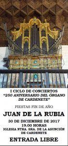 Juan de la Rubia clausurará el I Ciclo de conciertos 250 Aniversario de la construcción del órgano de Cardenete
