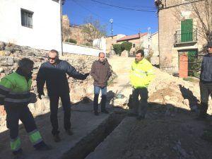 La Diputación de Guadalajara lleva a cabo obras hidráulicas y de pavimentación en Anguita y sus pedanías